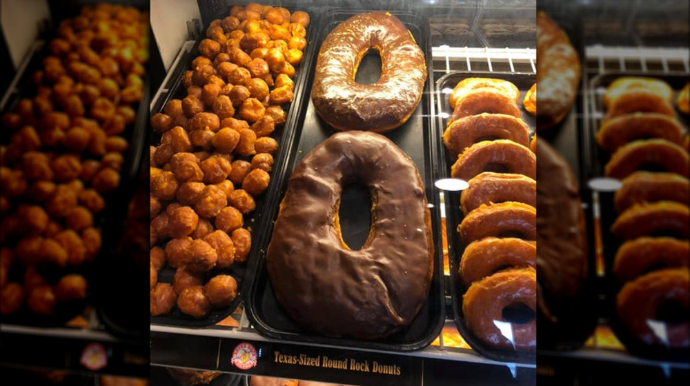 Texas Sized Donut at Round Rock Donuts