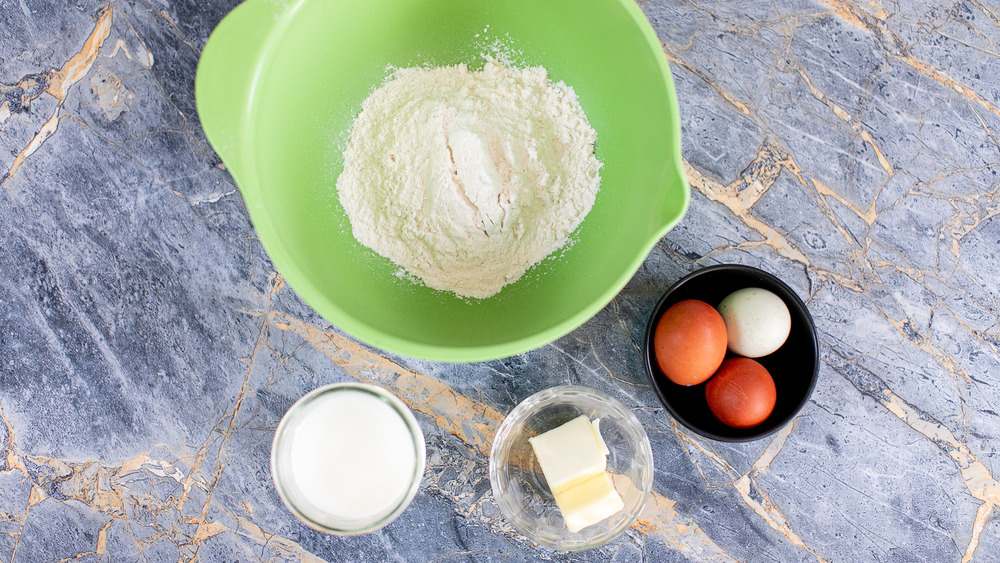 crepe ingredients on counter
