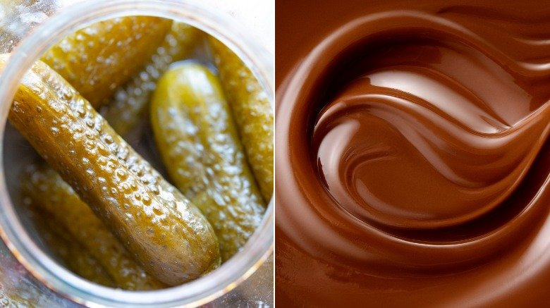Pickles and chocolate