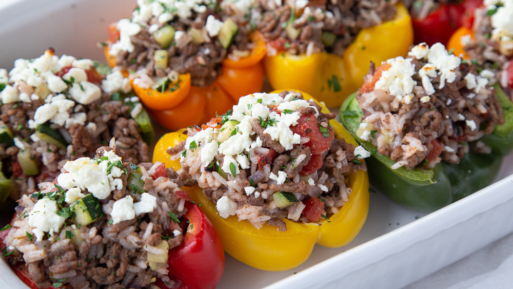These Greek stuffed peppers are incredibly delicious