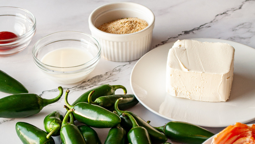 jalapeño ingredients set out on counter