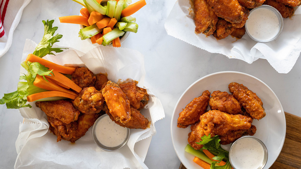 Buffalo wings for the Super Bowl