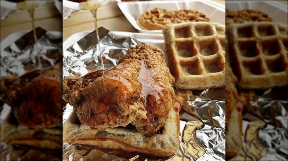 North Carolina: Dame's Chicken and Waffles's fried chicken