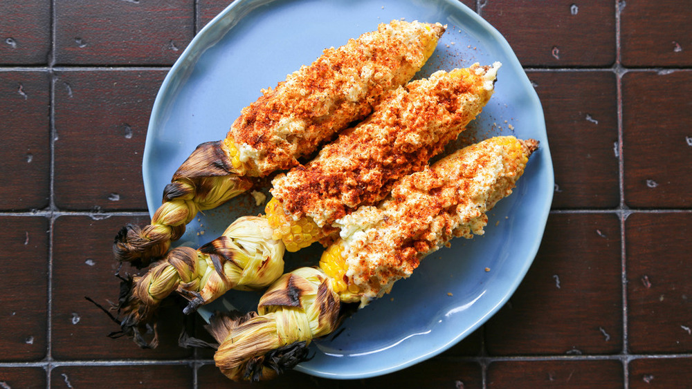 Mexican street corn with cheese