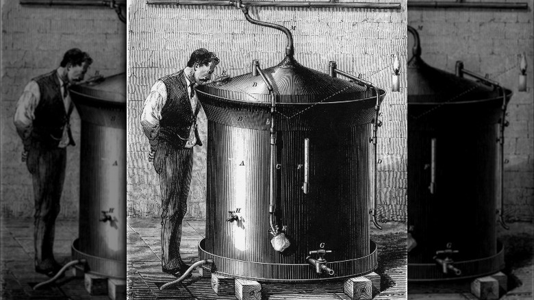 Louis Pasteur and his new invention