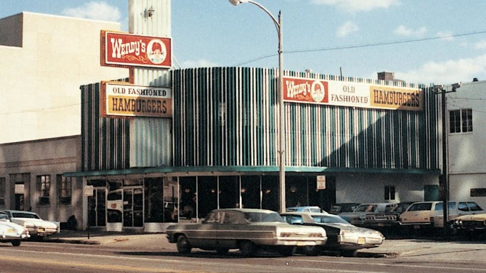 Wendy's restaurant vintage photo
